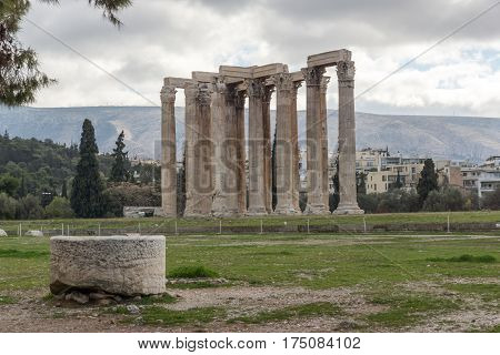 Temple of Olympian Zeus in Athens, Attica, Greece