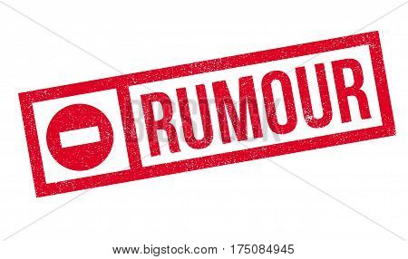 Rumour rubber stamp. Grunge design with dust scratches. Effects can be easily removed for a clean, crisp look. Color is easily changed.