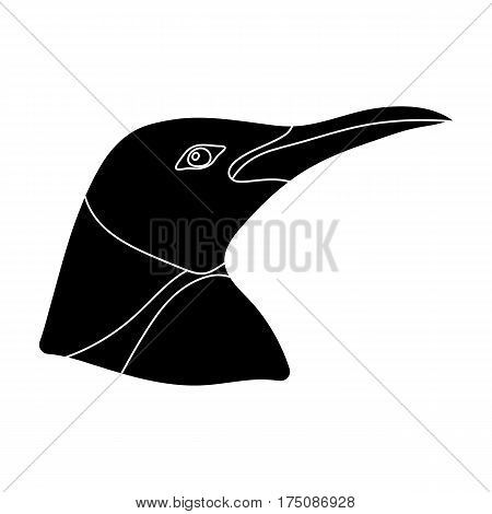 Penguin icon in black design isolated on white background. Realistic animals symbol stock vector illustration.