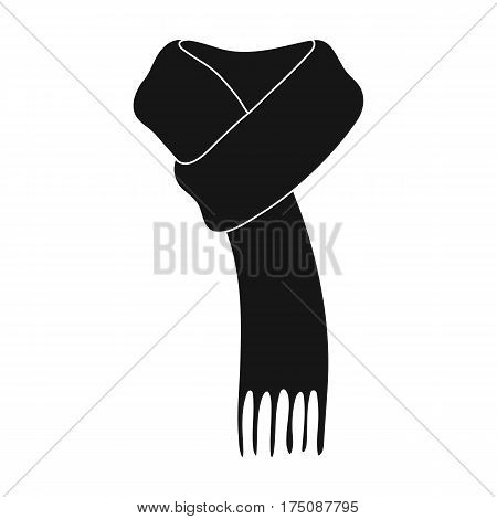 Pink warm woolscarf in ropes.Scarves and shawls single icon in black style vector symbol stock web illustration.