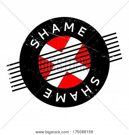 Shame rubber stamp. Grunge design with dust scratches. Effects can be easily removed for a clean, crisp look. Color is easily changed.