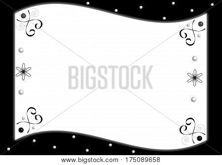 Decorative motive with space for your text in vector format