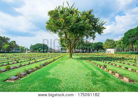 November 20/2016 Kanchanaburi War Cemetery World War 2 in Kanchanaburi Thailand.