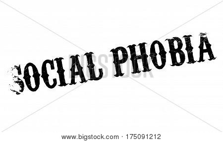 Social Phobia rubber stamp. Grunge design with dust scratches. Effects can be easily removed for a clean, crisp look. Color is easily changed.