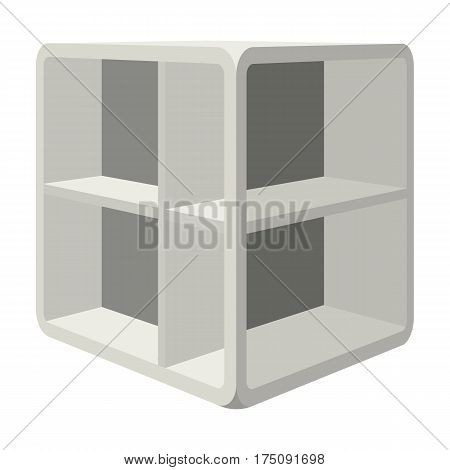 Small room coffee table.White table with cells.Bedroom furniture single icon in cartoon style vector symbol stock web illustration.