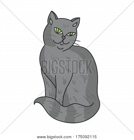 Nebelung icon in cartoon design isolated on white background. Cat breeds symbol stock vector illustration.