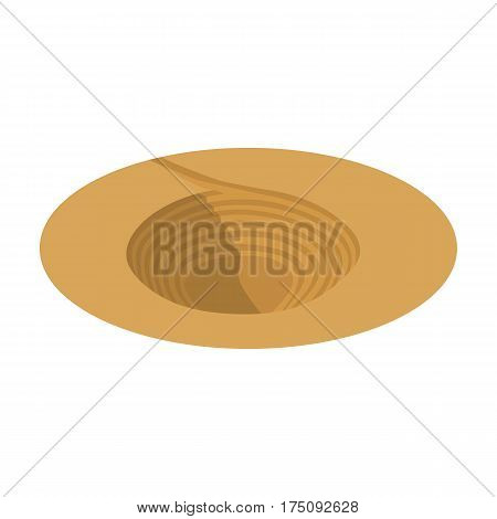 A big hole in the ground.The pit for the excavation of minerals.Mine Industry single icon in cartoon style vector symbol stock web illustration.
