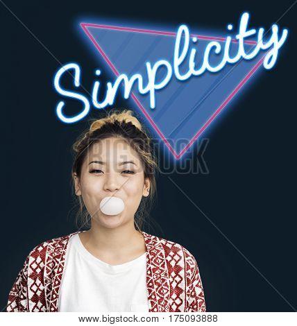 Simplicity Contemporary Design Word Graphic