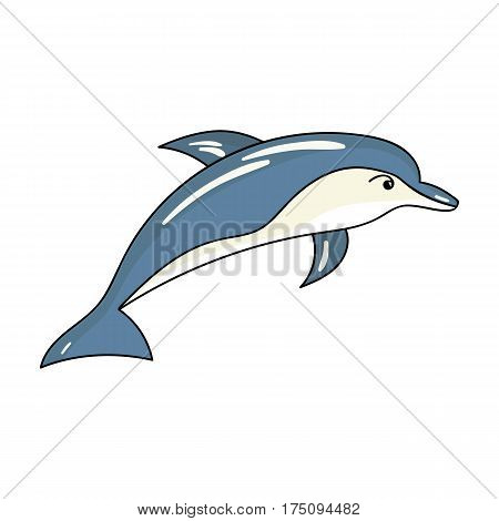 Dolphin icon in cartoon design isolated on white background. Sea animals symbol stock vector illustration.