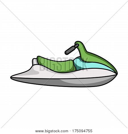Water scooter for entertainment.Water transport for two people.Ship and water transport single icon in cartoon style vector symbol stock web illustration.