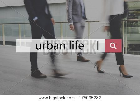 City Life Urban Scene Rush Hour Fast Paced Lifstyle