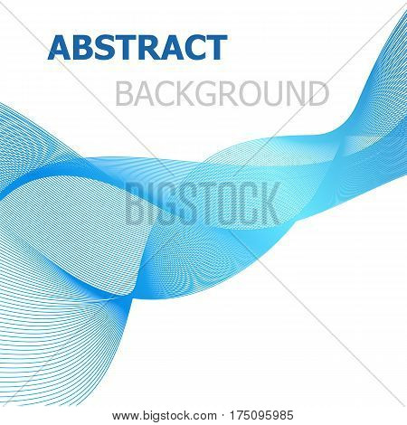 Blue line wave abstract background, stock vector