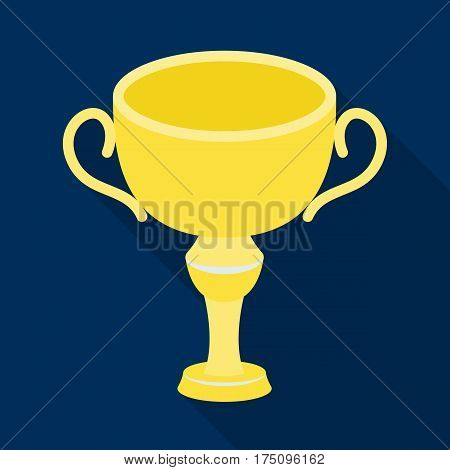 Silver award winner of the competition.The Cup for second place.Awards and trophies single icon in flat style vector symbol stock web illustration.