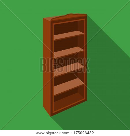 The little bookcase.Home library.books to read.Bedroom furniture single icon in flat style vector symbol stock web illustration.