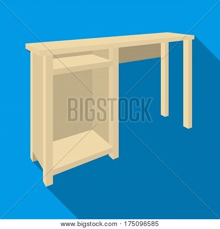 Wooden table legs.Table for drawing pictures.Table with drawers sketch icon for infographic, website or app.Bedroom furniture single icon in flat style vector symbol stock web illustration.