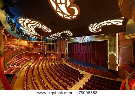 Theater In Disney Cruise Line Ship