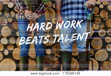 Talent overlay word young people