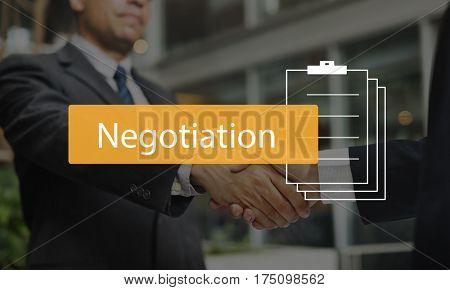 Negotiation Business Brainstorming Commitment Arrangement