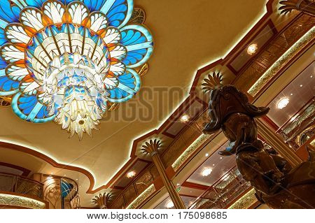 Main Hall In Disney Cruise Ship
