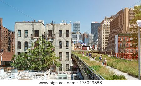 Modern Highline Park In New York City