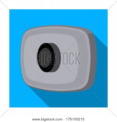 Webcam icon in flat design isolated on white background. Personal computer accessories symbol stock vector illustration.