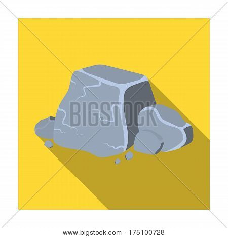 Metal ore icon in flat design isolated on white background. Precious minerals and jeweler symbol stock vector illustration.