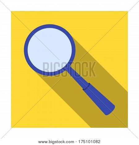 Magnifying glass icon in flat design isolated on white background. Precious minerals and jeweler symbol stock vector illustration.