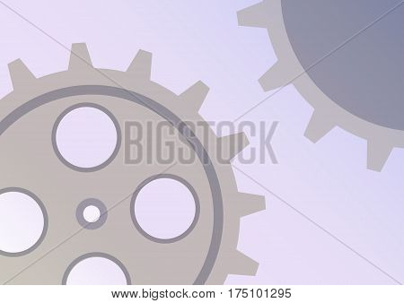 Vector Illustration Of Gear Wheel Abstract Background. Transparent Banner With Clockwork. Eps10.