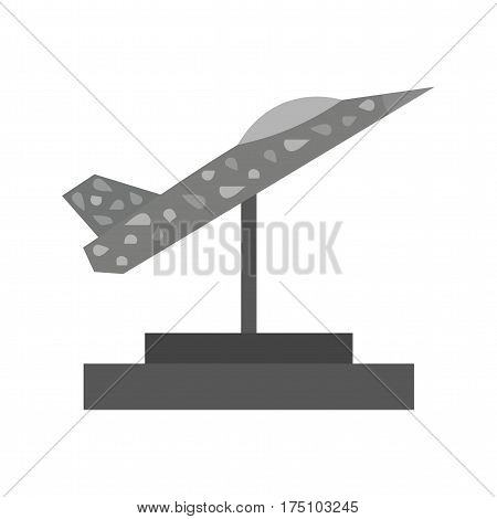 Museum, aviation, plane icon vector image. Can also be used for museum. Suitable for mobile apps, web apps and print media.