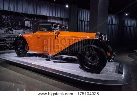 Orange 1930 Bugatti Type 46 Cabriolet