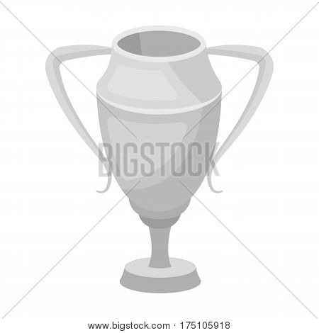 Silver Cup.Award the winner of the competition for second place.Awards and trophies single icon in monochrome style vector symbol stock web illustration.