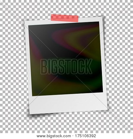 Instant Photo Frame Vector. Photorealistic Illustration Of Retro Style Photo Frame On Transparent Background