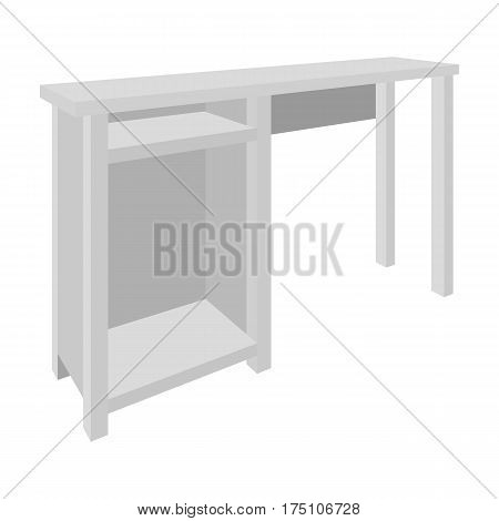 Wooden table legs.Table for drawing pictures.Table with drawers sketch icon for infographic, website or app.Bedroom furniture single icon in monochrome style vector symbol stock web illustration.