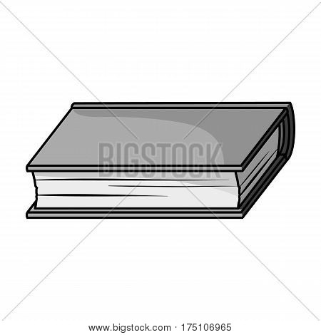 Green book icon in monochrome design isolated on white background. Books symbol stock vector illustration.