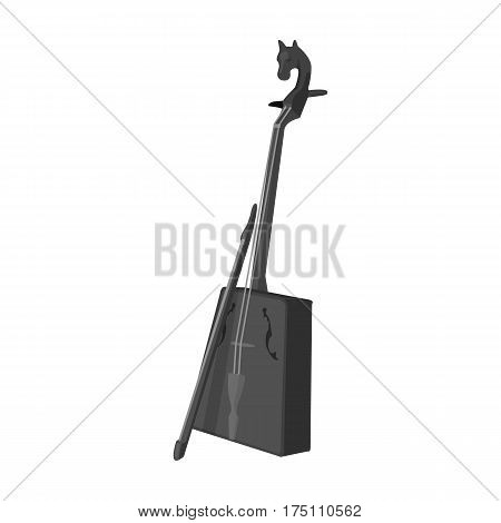 Wooden musical instruments of Mongol .National music of the Mongolian.Mongolia single icon in monochrome style vector symbol stock web illustration.