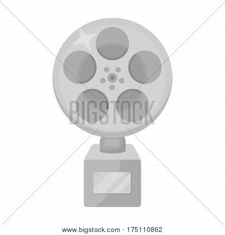 The Golden reel of film.Award for the best playback of the movie.Movie awards single icon in monochrome style vector symbol stock web illustration.