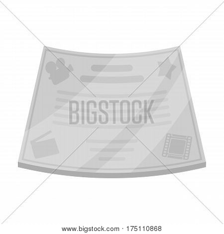 Bronze certificate for the best main role in the film.Movie awards single icon in monochrome style vector symbol stock web illustration.