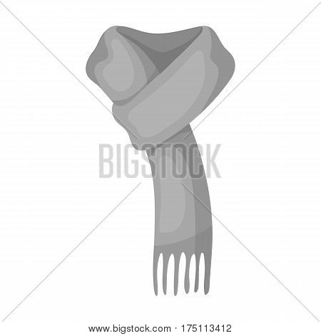 Pink warm woolscarf in ropes.Scarves and shawls single icon in monochrome style vector symbol stock web illustration.