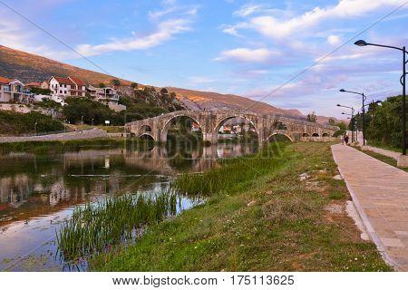 Old bridge in Trebinje - Bosnia and Herzegovina - architecture travel background