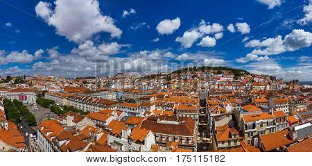 Lisbon Portugal cityscape - architecture background