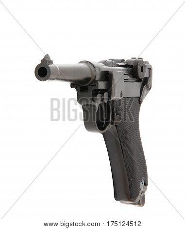 Pistol Handgun Weapon Isolated On White Background