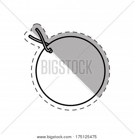 round tag price discount cut line vector illustration eps 10