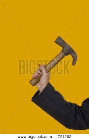 Businesswoman With A Hammer