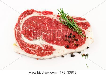 Slide rib eye beef preparation for cooking