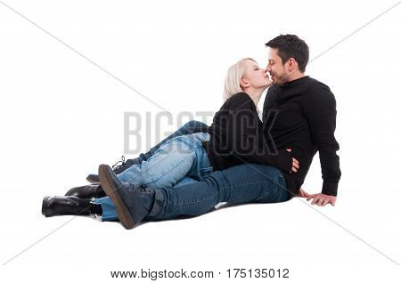 Two People Sitting Close To Each Other