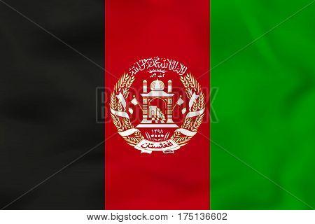 Afghanistan Waving Flag. Afghanistan National Flag Background Texture.