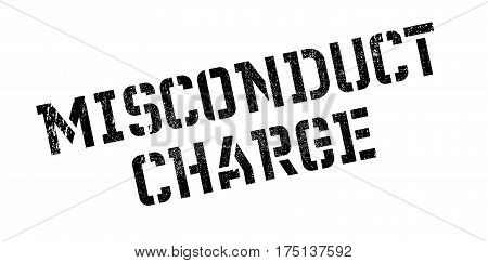 Misconduct Charge rubber stamp. Grunge design with dust scratches. Effects can be easily removed for a clean, crisp look. Color is easily changed.