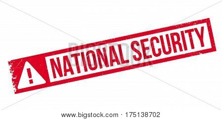 National Security rubber stamp. Grunge design with dust scratches. Effects can be easily removed for a clean, crisp look. Color is easily changed.