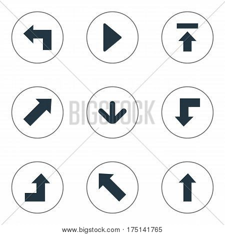 Vector Illustration Set Of Simple Indicator Icons. Elements Transfer, Upward Direction, Indicator And Other Synonyms Right, Arrow And Growing.