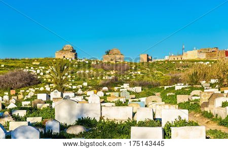 View of a muslim cemetery in Meknes - Morocco